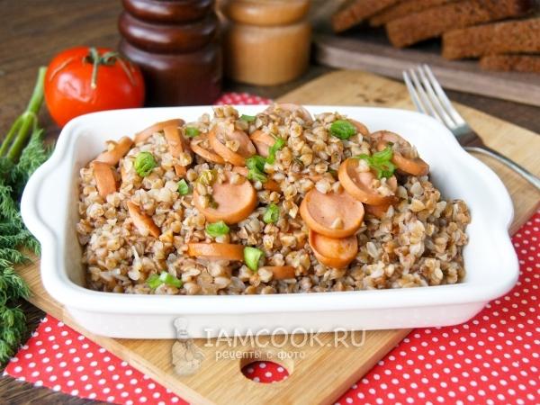 Гречка с сосисками — рецепт с фото пошагово