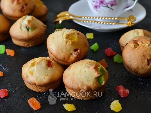 Кексы с цукатами в формочках — рецепт с фото пошагово