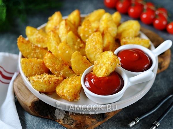 Картофель в хрустящей панировке в духовке — рецепт с фото пошагово