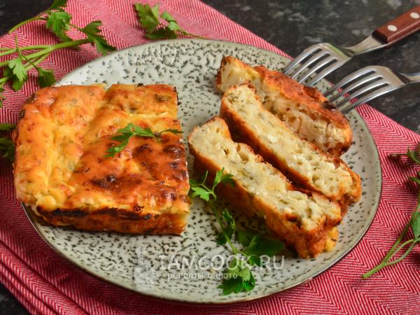 Творожная запеканка с сыром и зеленью — рецепт с фото пошагово