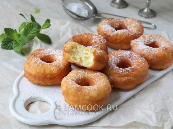 Пончики на йогурте — рецепт с фото пошагово