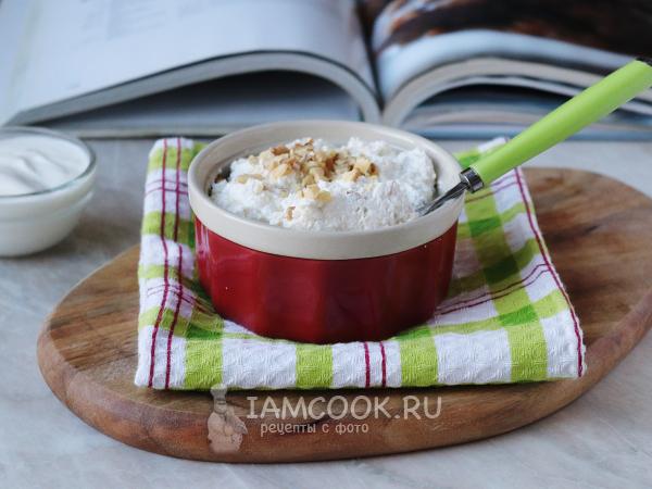 Творожная масса с орехами — рецепт с фото пошагово
