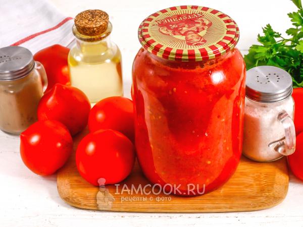 Помидоры в собственном соку без стерилизации — рецепт с фото пошагово