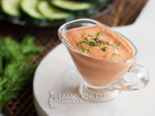 Соус из сметаны и томатной пасты — рецепт с фото пошагово