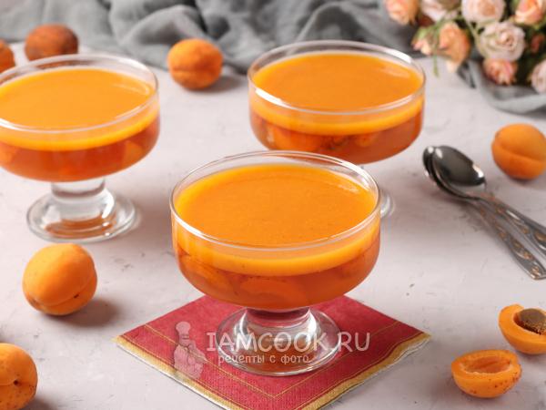 Желе из абрикосов с желатином — рецепт с фото пошагово