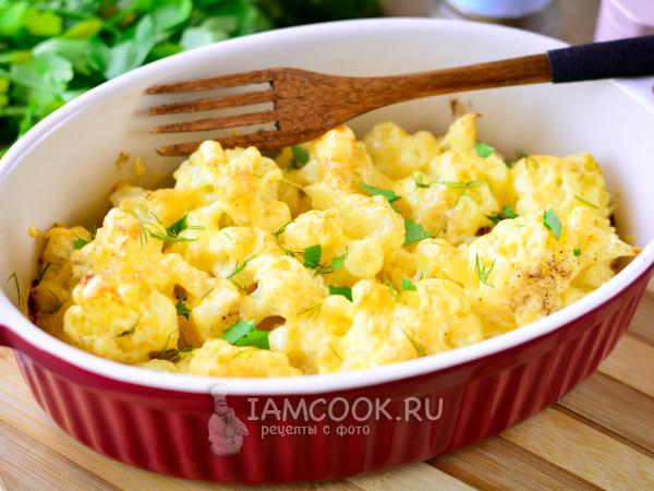 Цветная капуста с майонезом и сыром в духовке — рецепт с фото пошагово