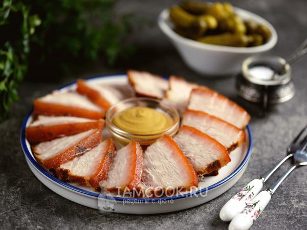 Свиная грудинка, запеченная в рукаве в духовке — рецепт с фото пошагово