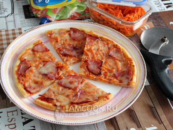 Пицца с ветчиной и морковью по-корейски — рецепт с фото пошагово