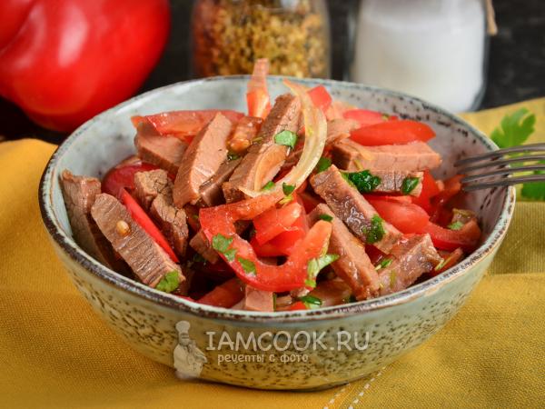Салат «Азия» с говядиной — рецепт с фото пошагово