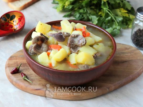 Картошка с куриными желудочками в мультиварке — рецепт с фото пошагово