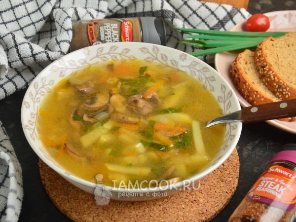 Грибной суп со шпинатом — рецепт с фото пошагово