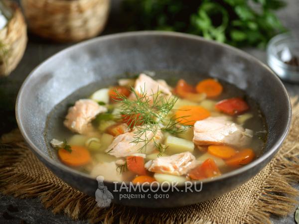 Уха из головы лосося — рецепт с фото пошагово