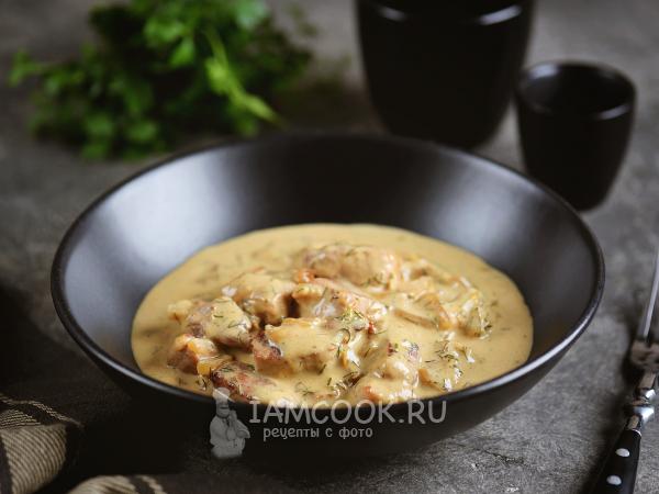 Свинина в горчичном соусе на сковороде — рецепт с фото пошагово