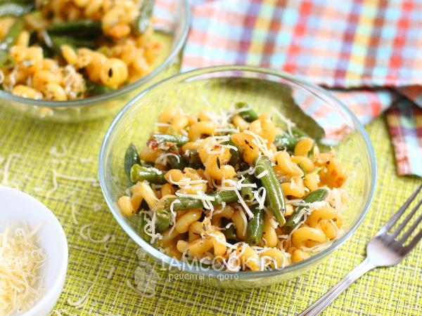 Макароны со стручковой фасолью — рецепт с фото пошагово