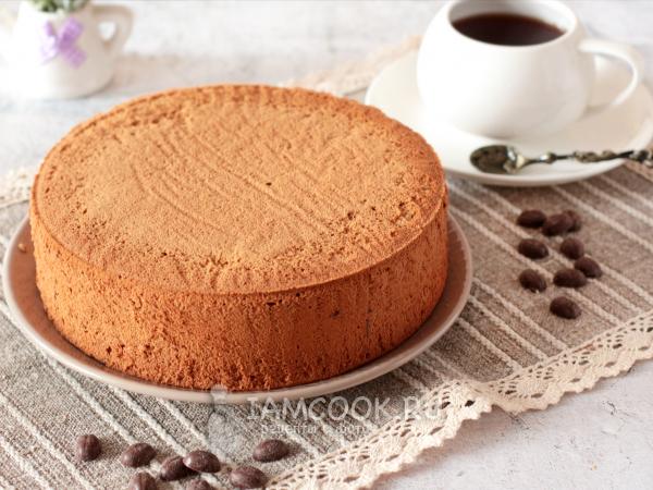 Кофейный бисквит с растительным маслом — рецепт с фото пошагово