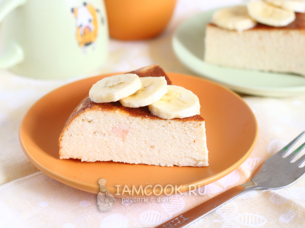 Творожная запеканка с бананом в мультиварке — рецепт с фото пошагово