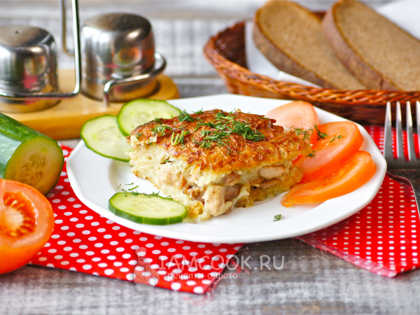 Картофельная бабка с мясом в духовке — рецепт с фото пошагово