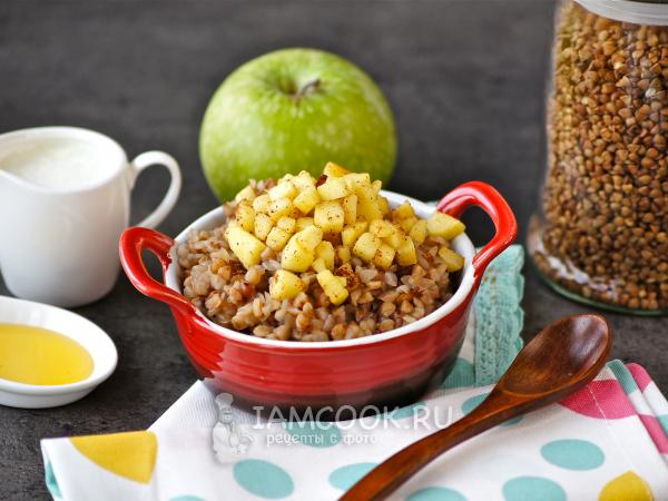 Гречка с яблоками — рецепт с фото пошагово