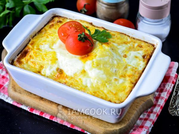 Запеканка из вермишели с яйцом — рецепт с фото пошагово