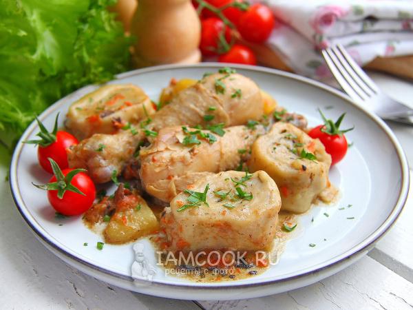 Штрули с курицей и картошкой — рецепт с фото пошагово