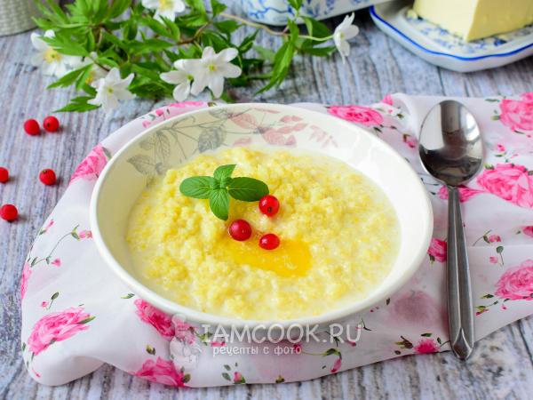 Пшенная каша в мультиварке-скороварке (на молоке) — рецепт с фото пошагово