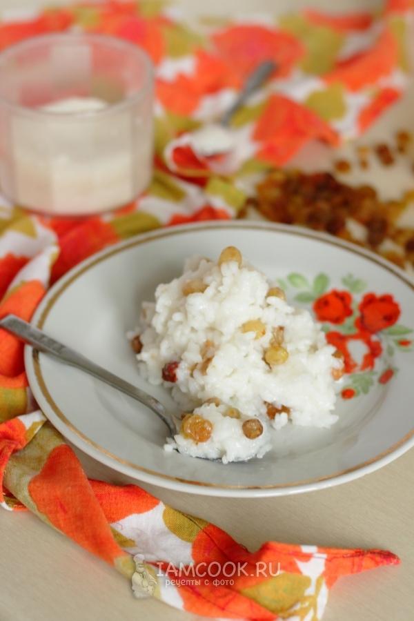 Рецепт рисовой каши на воде с изюмом