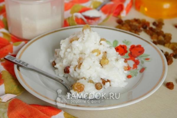 Фото рисовой каши на воде с изюмом