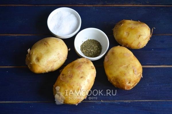 Ингредиенты для картофеля фри в духовке без масла