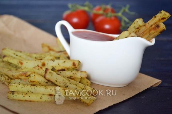 Рецепт картофеля фри в духовке без масла