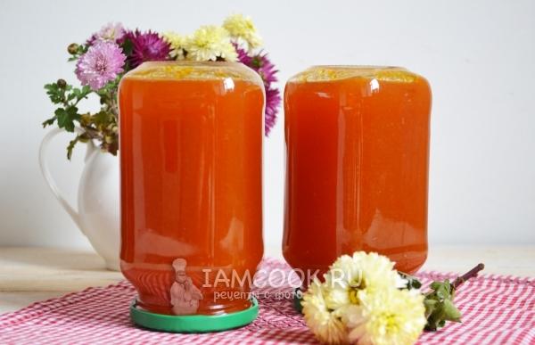 Рецепт яблочно-морковного пюре на зиму
