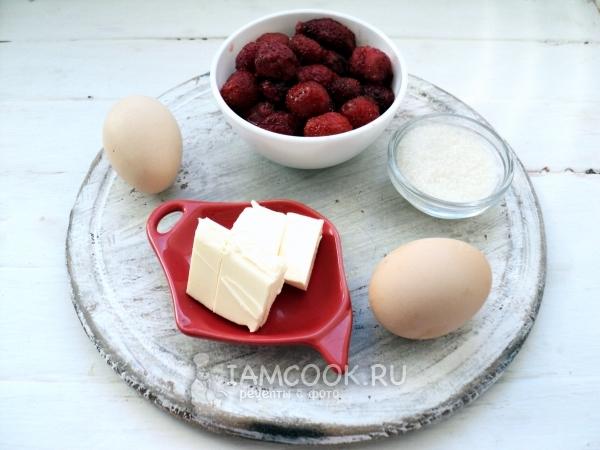 Ингредиенты для клубничного курда из замороженной клубники