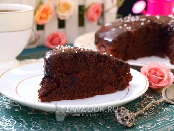 Рецепт постного шоколадного пирога с какао