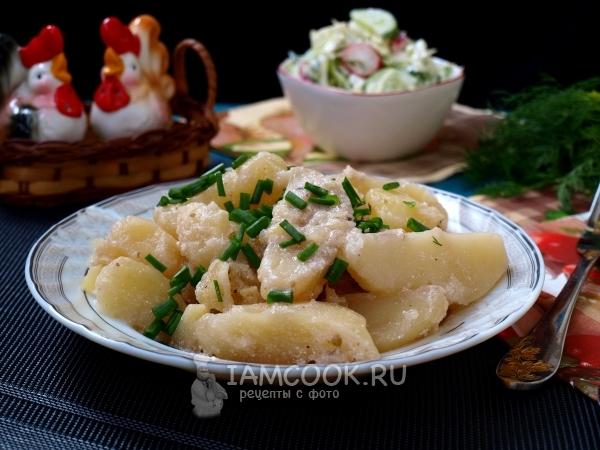 Рецепт тушеной картошки в сметане