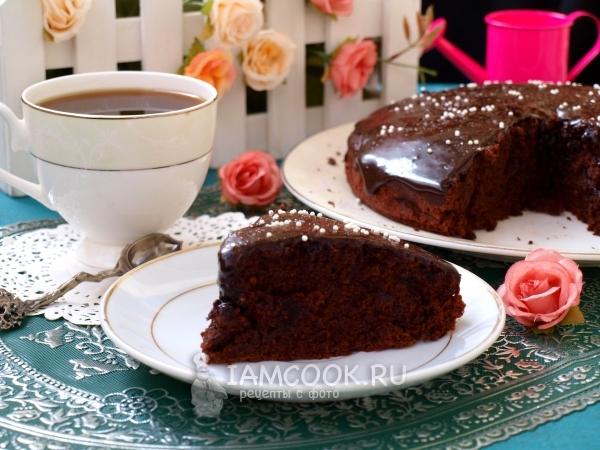 Фото постного шоколадного пирога с какао