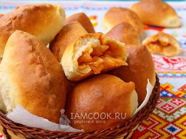 Рецепт постных пирожков с капустой