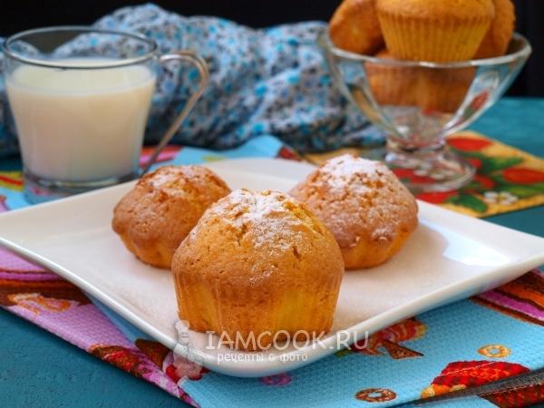 Рецепт кексов на сметане в силиконовых формочках