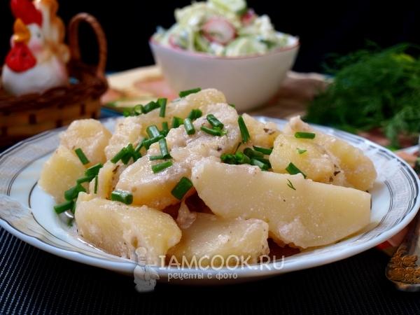 Фото тушеной картошки в сметане