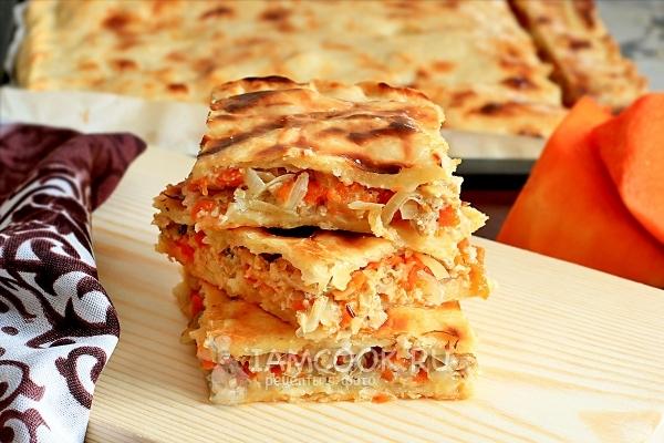 Фото пирога с тыквой и мясом