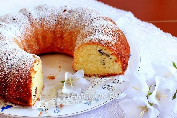Фото кекса с творогом и сметаной