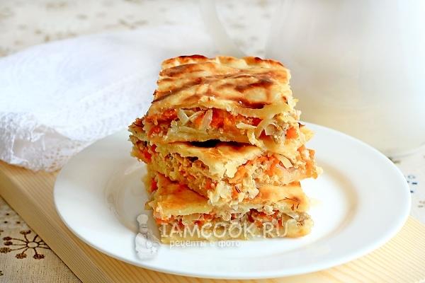 Рецепт пирога с тыквой и мясом