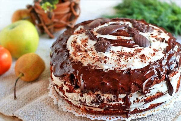 Фото торта «Трухлявый пень» с вареньем