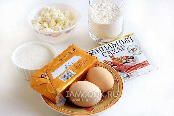 Ингредиенты для творожных коржиков