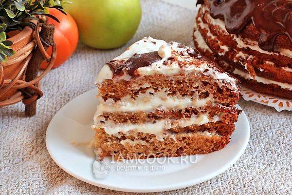 Рецепт торта «Трухлявый пень» с вареньем
