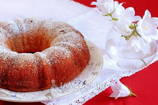 Рецепт кекса с творогом и сметаной