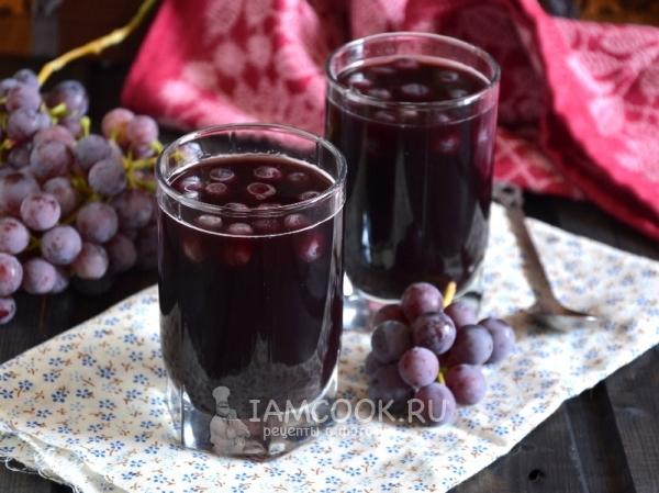 Фото желе из винограда