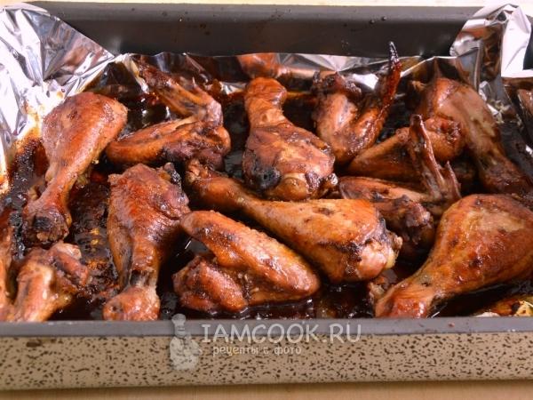 Рецепт курицы, запеченной в гранатовом соусе в духовке