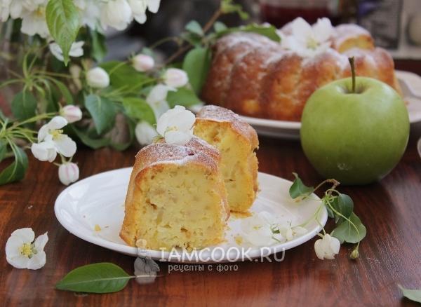 Рецепт кекса на кефире с яблоками