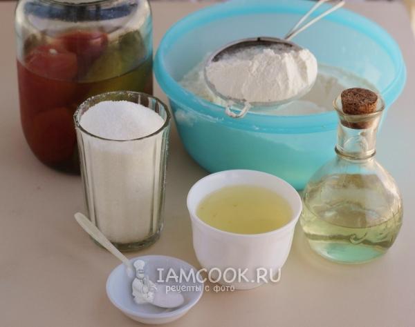 Ингредиенты для постных пряников на рассоле
