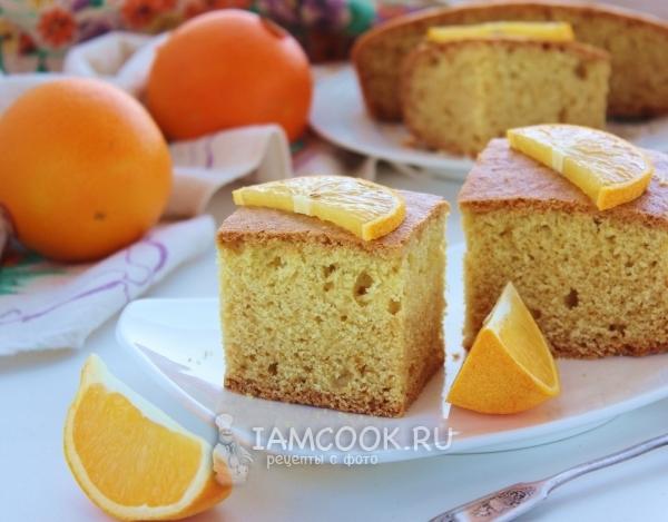 Рецепт постного апельсинового манника