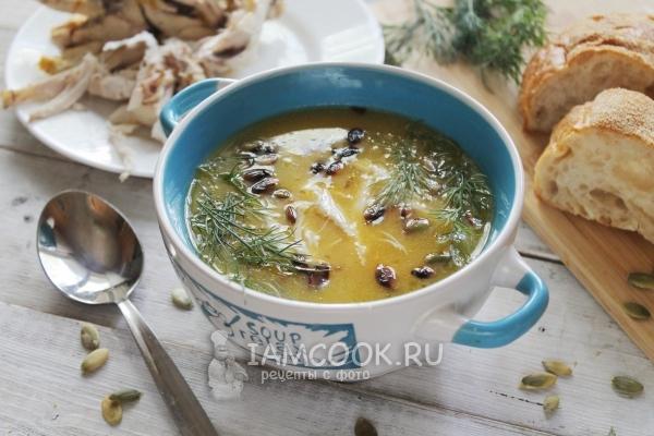 Рецепт тыквенного супа-пюре с курицей